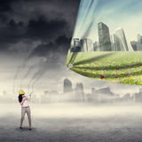 Environment saving concept Stock Images