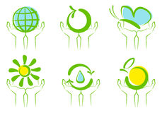 Environment symbols Stock Images