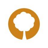 Environment tree natural symbol Royalty Free Stock Images