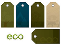 Environment vector tag set Stock Photography