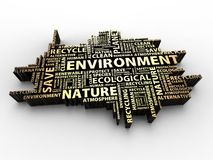 Environment words stock image