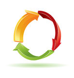 Environmental 3d  symbol. For your artwork Stock Photos