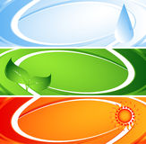Environmental abstract banners Stock Image
