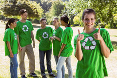 Environmental activist showing thumbs up Stock Photography