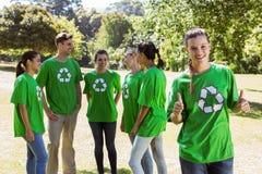 Environmental activist showing thumbs up Royalty Free Stock Photo