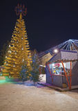 "Environmental art object ""Christmas tree of love"" at Livu sq Stock Photos"