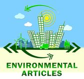 Environmental Articles Showing Eco Publication 3d Illustration. Environmental Articles Town Showing Eco Publication 3d Illustration vector illustration