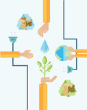 Environmental awareness  with hands Royalty Free Stock Image