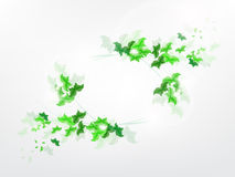 Environmental Background with green leaf butterflies. On a light green background Royalty Free Stock Image