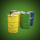 Environmental Industrial Barrels Royalty Free Stock Photo