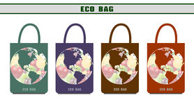Environmental bags. Ecological packages. Design options eco bags stock illustration
