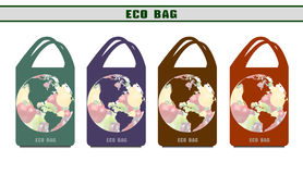 Environmental bags. Ecological packages. Design options eco bags vector illustration