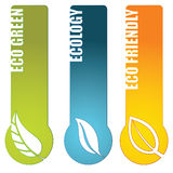 Environmental banners. Set of 3 environmental banners with a set of icons isolated Stock Photography
