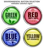 Environmental Button Selection Vector Stock Images