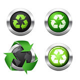 Environmental buttons. Set of 4 Environmental buttons Royalty Free Stock Image