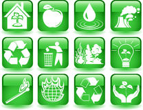 Environmental buttons. Vector of environmental symbols on the buttons Royalty Free Stock Photos