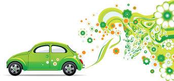 Environmental Car. All elements and textures are individual objects. Vector images scale to any size vector illustration