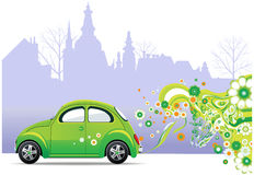 Environmental Car. All elements and textures are individual objects. Vector images scale to any size Stock Photo