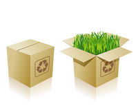 Environmental carton Stock Photography