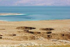 Environmental catastrophe on the Dead Sea, Israel Royalty Free Stock Photos