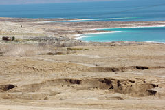 Environmental catastrophe on the Dead Sea, Israel Royalty Free Stock Photo