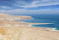 Environmental catastrophe on the Dead Sea, Israel Stock Photos