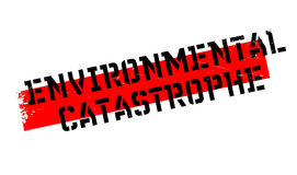 Environmental Catastrophe rubber stamp Stock Image
