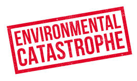 Environmental Catastrophe rubber stamp Stock Photos