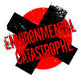 Environmental Catastrophe rubber stamp Stock Photography