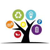 Environmental. Concept of environmental protection with ecological icons Royalty Free Stock Photography