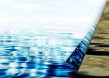 Environmental concept, water protection Royalty Free Stock Images