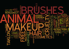 Environmental Consciousness Extends To Makeup Brushes Word Cloud Concept Royalty Free Stock Photos
