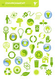 Environmental conservation. Set of 40 environmental icons and design-elements Royalty Free Stock Images