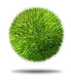 Environmental Conservation Grass Ball. Environmental conservation grass sphere as a natural symbol of ecology and clean energy icon with a round ball made of royalty free illustration