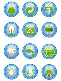 Environmental conservation icons Royalty Free Stock Photo
