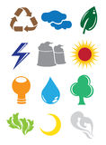 Environmental Conservation Icons Stock Image