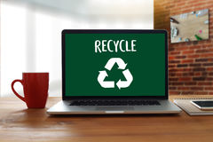 Environmental Conservation Recycle Green saving Life Preservatio Royalty Free Stock Photography