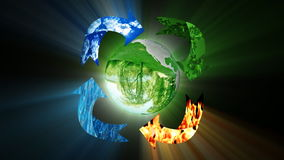 Environmental conservation, recycling, loop, stock footage stock video footage