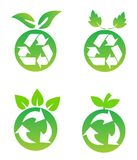 Environmental conservation symbols. On white Stock Image