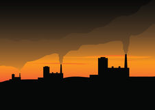 Environmental contamination. Active pollution of nature and atmosphere Stock Images