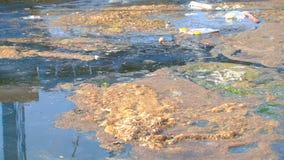 Environmental contamination of water stock video