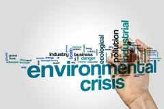 Environmental crisis. Word cloud concept royalty free stock photos