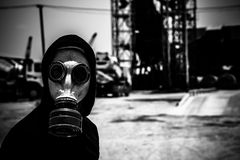 Environmental disaster concept Stock Photos