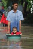 ENVIRONMENTAL DISASTER DAMAGE FLOOD Royalty Free Stock Photo