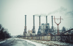 Environmental disaster. Pollution of nature Royalty Free Stock Photos