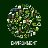 Environmental ecology friendly poster Royalty Free Stock Photography