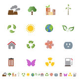 Environmental ecology icon set Stock Photo