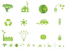 Environmental ecology icons Stock Photo