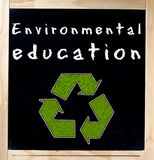 Environmental Education on Chalkboard Stock Photo