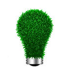 Environmental energy electric green grass light bu Stock Photos